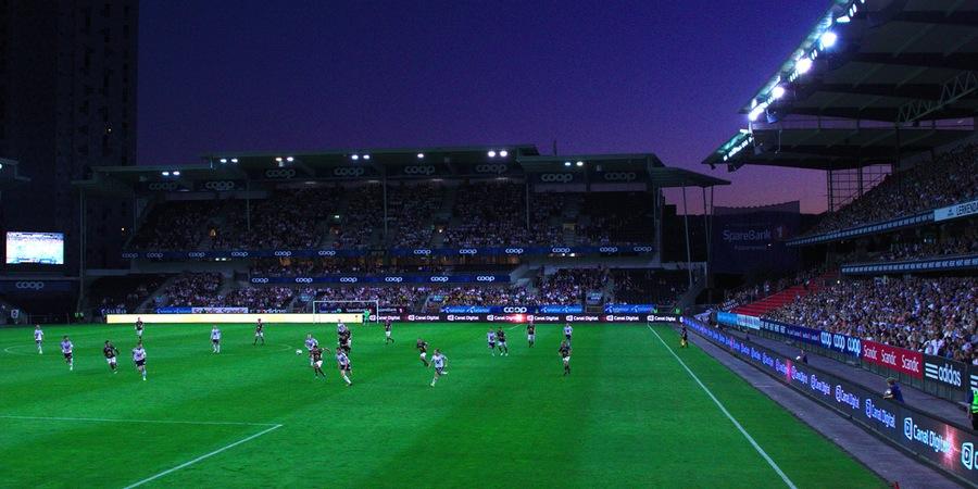 Fotbollsmatch på Råsunda